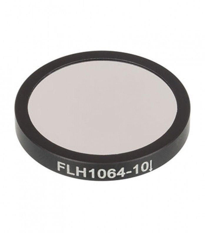 [THORLABS] FLH1064-10, 프리미엄 밴드 패스 필터, Ø25 mm, CWL = 1064 nm, FWHM = 10 nm